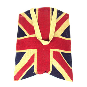 Union Jack with Shoulder Strap Jute Bag