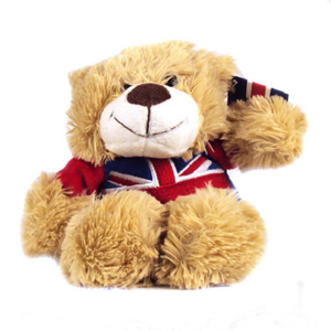 Soft Bear with Union Jack T-Shirt 15cm
