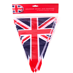 Union Flag Bunting PVC 12 Foot 10 Flags