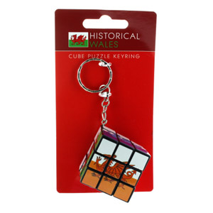 Welsh Dragon Puzzle Cube Keyring