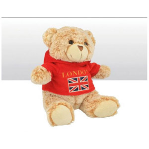 London Union Jack Fleece Hoodie Soft Toy Bear 15cm