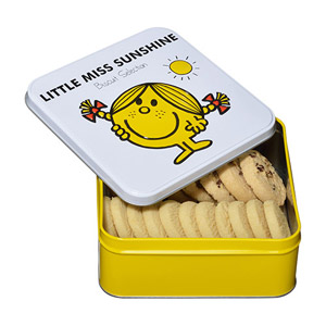 Little Miss Sunshine Tin Filled With Selected Biscuits