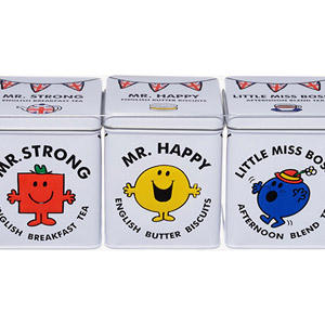 Mr Men & Little Miss Tea & Biscuit Tin Gift Pack