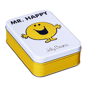Mr Happy Tin Filled With Jelly Beans