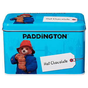 Paddington Bear Tin with Hot Chocolate Powder