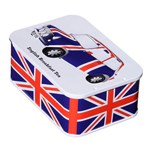 British Heritage Union Jack Tin with Sliding Lid 10 Teabags
