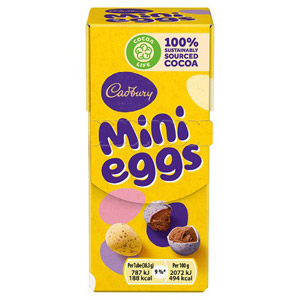 Cadbury Mini Eggs Carton