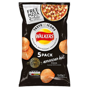 Walkers Pizza Express American Hot Pizza Flavour 5 Pack
