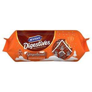 McVities Milk Chocolate Digestives Gingerbread