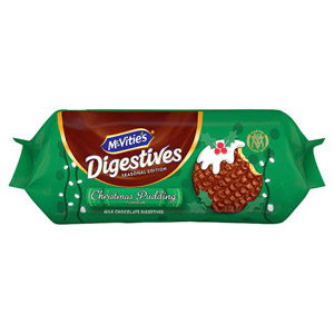 McVities Milk Chocolate Digestives Christmas Pudding