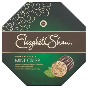 Elizabeth Shaw Mint Crisp Dark Chocolates