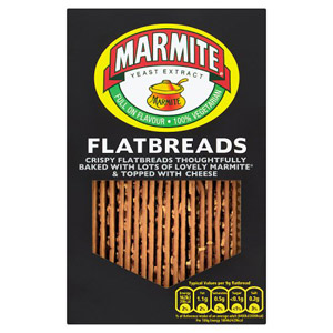 Fudges Marmite Flavoured Flatbreads