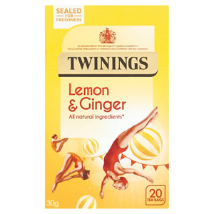 Twinings Lemon Ginger Caffeine Free 20 Teabags