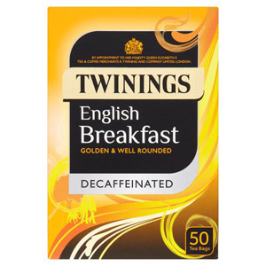 Twinings Decaffeinated English Breakfast Teabags 50s
