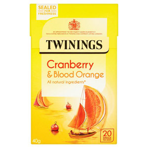Twinings Cranberry & Blood Orange Caffeine Free 20s