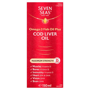 Seven Seas Max Strength Cod Liver Oil Liquid 150ml