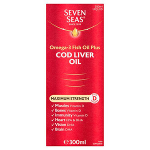 Seven Seas Max Strength Cod Liver Oil Liquid 300ml