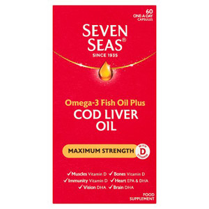 Seven Seas Cod Liver Oil Max Strength 60 Capsules