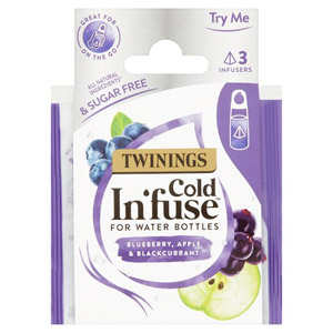 Twinings Cold Infuse Blueberry Apple & Blackcurrant For Water Bottles 3 Sachet