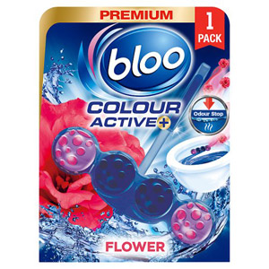 Bloo Blue Active Fresh Flowers Toilet Rim Block Freshner