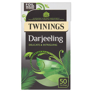 Twinings Darjeeling Delicate & Intriguing 50 Tea Bags