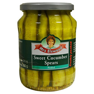 Mrs Elswood Sweet Cucumber Spears Pickled