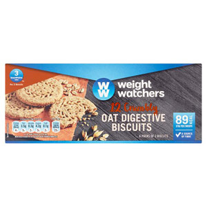 Weight Watchers 12 Crumbly Oat Digestive Biscuits