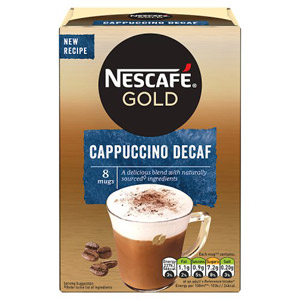 Nescafe Gold Cappuccino Decaf 8 sachets 8x15g
