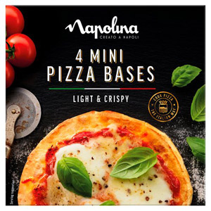 Napolina Mini Pizza Bases 4 x 12.5g
