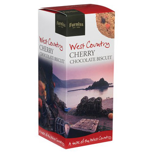 Furniss Of Cornwall West Country Cherry Chocolate Biscuits