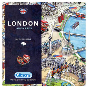 Gibsons London Landmarks Jigsaw Puzzle 500 Piece