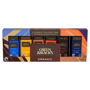 Green & Blacks Classic Collection 12 Miniature Bars
