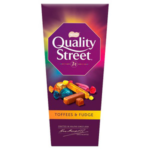 Quality Street Toffee & Fudge Carton