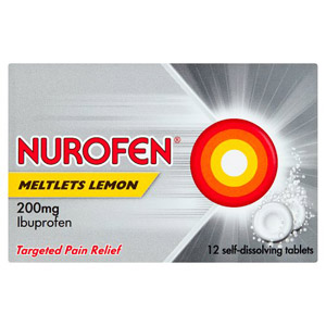 Nurofen Meltlets Lemon 12 Pack