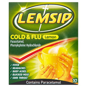Lemsip Cold and Flu Original Lemon 10 Pack