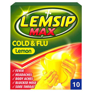Lemsip Max Cold and Flu Lemon 10 Pack