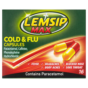 Lemsip Max Cold and Flu 16 Capsules