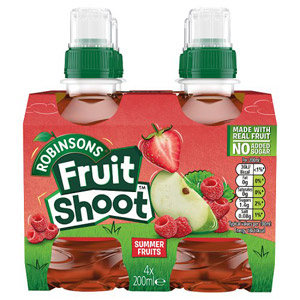 Robinsons Fruit Shoot NAS Summer Fruits 4pk