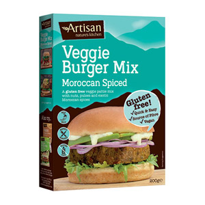 Artisan Grains Moroccan Spiced Veggie Gluten Free Burger Mix