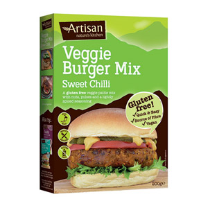 Artisan Grains Sweet Chilli Veggie Gluten Free Burger Mix