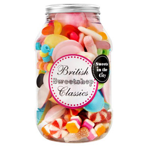 Sweets in the City British Sweetshop Classics Jar of Joy