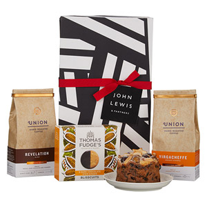 John Lewis & Partners Coffee & Biscuits Hamper