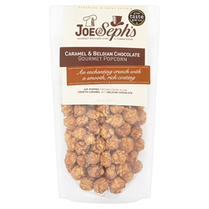 Joe and Seph's Caramel and Belgian Chocolate Popcorn Pouch