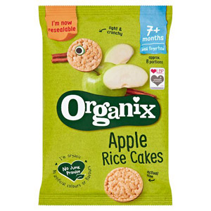 Organix 7 Month Rice Cakes Apple