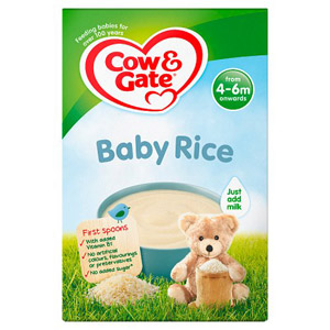 Cow & Gate 4 Month Pure Baby Rice Packet