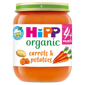 Hipp 4 Month Organic Carrots & Potatoes