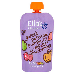 Ellas Kitchen 4 Month Sweet Potato Pumpkin Apple & Blueberry