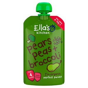 Ellas Kitchen 4 Month Broccoli Pear & Peas Puree
