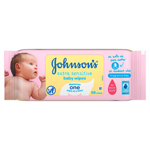 Johnsons Skincare Wipes Extra Sensitive 56 Pack