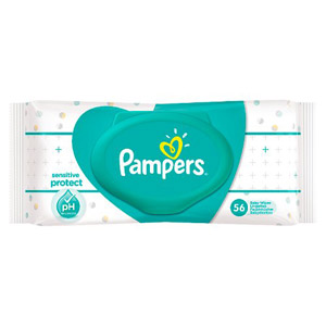 Pampers Wipes Sensitive Refill 56 Pack